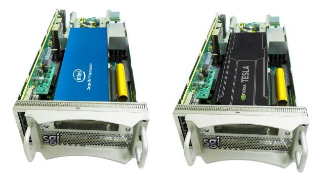 Accelerator nodes for the UV 2000 sporting Xeon Phi and Tesla coprocessors