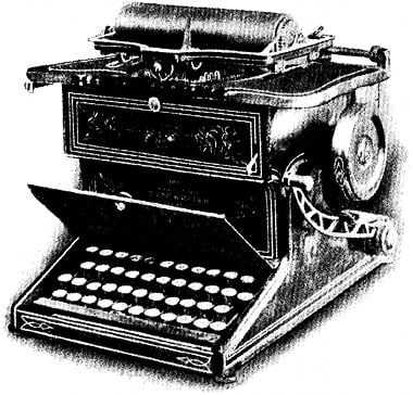 Sholes and Glidden typewriter made by Remington