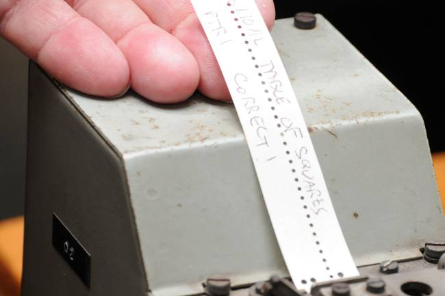 Dekatron hole punch program, photo: Gavin Clarke