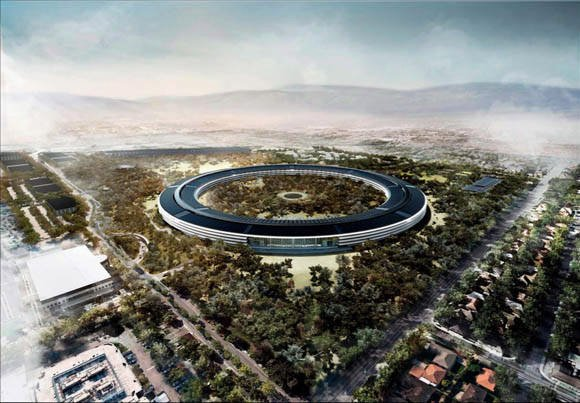 Apple's new Cupertino campus  rendering