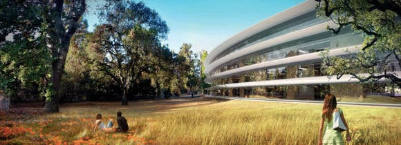 Apple's new Cupertino campus  outside