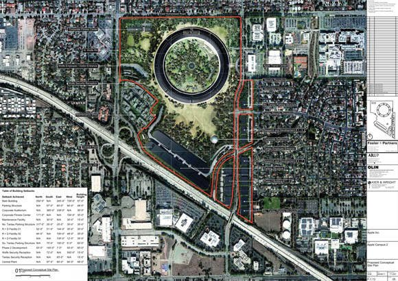 Apple's new Cupertino campus  site plan