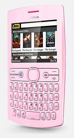 Handset, in pink