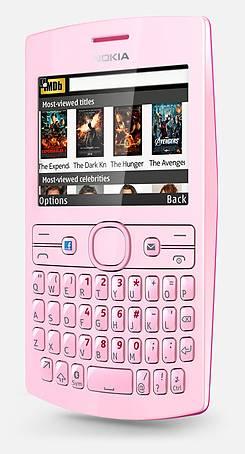 Handset, in pink
