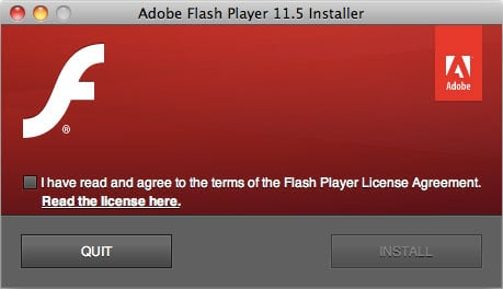 Adobe Flash installer