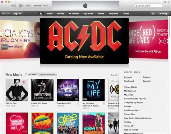 iTunes 11 : iTunes Music Store