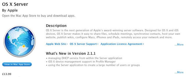 Mac OS X 10.8 server