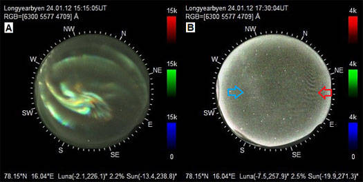 Images from the NORUSCA II Camera