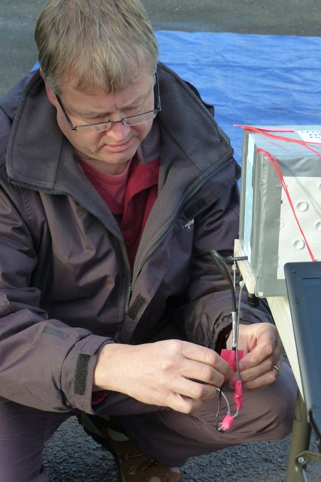 Neil connecting the igniter