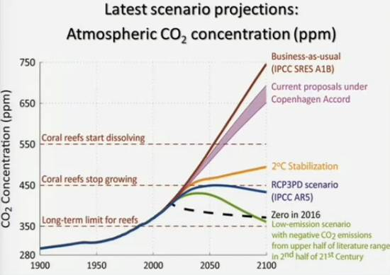 AGU CO2 concentrations against acidification