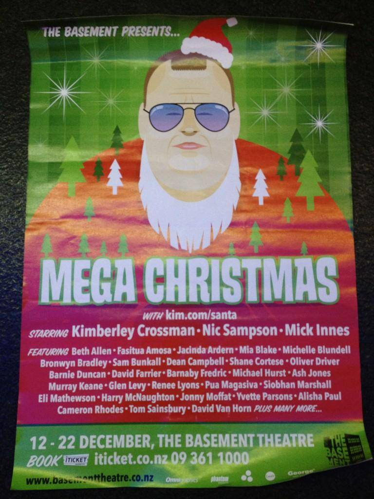 A poster for Kim Dotcom's Christmas Panto