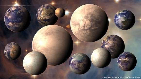 Seven worlds in the Habitable Exoplanets Cata