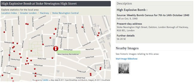 Bomb report for Stoke Newington High Street
