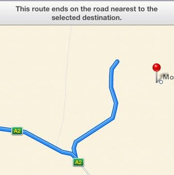 Apple maps of
