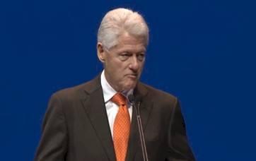 President Bill Clinton addressing Dell World attendees