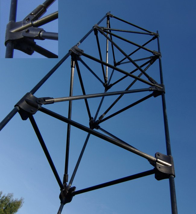 Our carbon fibre flying truss constructed
