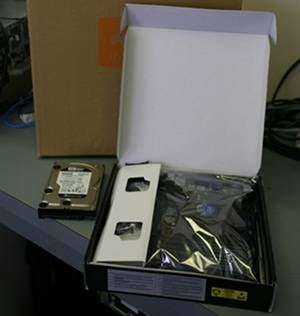 A motherboard in a box