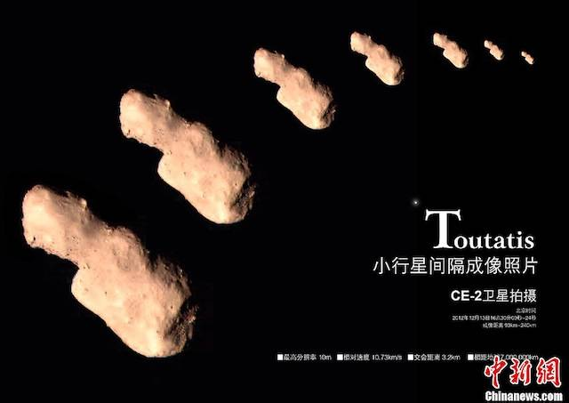 Photos of Asteroid 4179 Toutatis