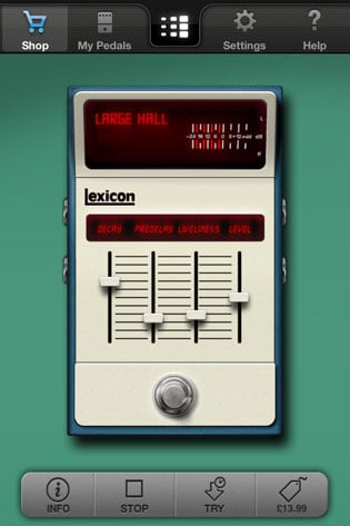 Digitech iStomp iOS guitar effects pedal app