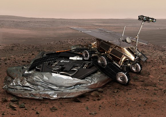 Artist's impression of the ExoMars lander