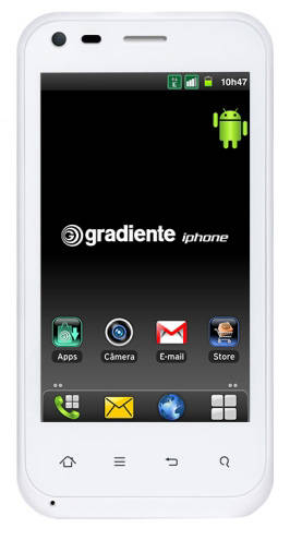 Photo of the Gradiente iphone from Brazil