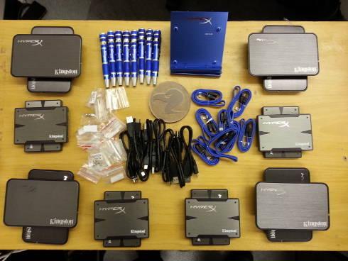 Kingston Hyper-X 3K 8 SSDs with upgrade kits