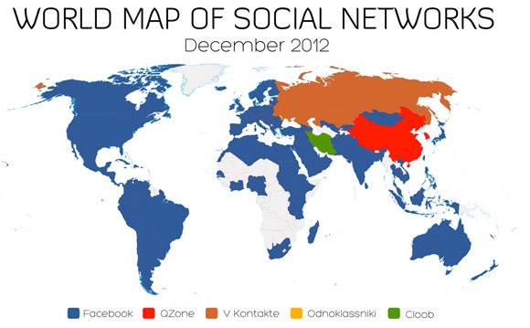 World Map of Social Networks – December 2012