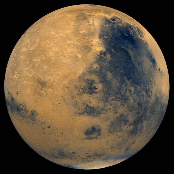 NASA Mars Digital Imaging Model (MDIM) mosaic created from raw Viking Orbiter images