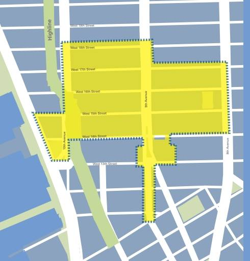 Google's free Wi-Fi hotspot in Chelsea
