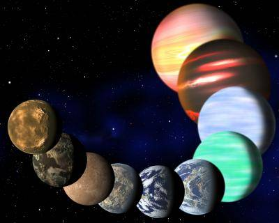 Artist's impression of the the variety of planets being detected by NASA's Kepler spacecraft, Credit: C. Pulliam & D. Aguilar (CfA)
