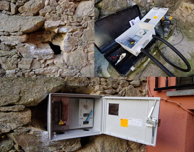 Installing an external meter box