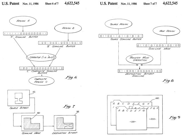 Apple QuickDraw patent drawings