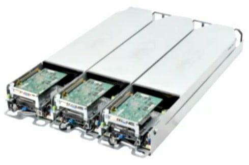 The three-node Winterfell server chassis from Facebook