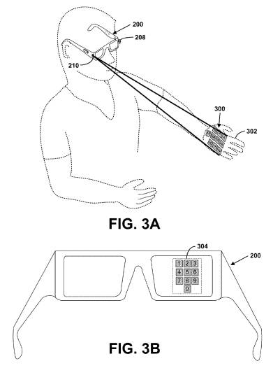 Google's laser projection glasses