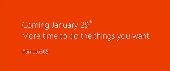 Microsoft's teaser website proffering a possible Office 2013 launch date