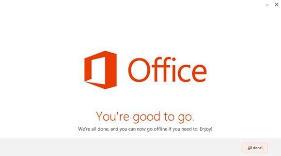 Screenshot of the Office 2013 installer for Office 365