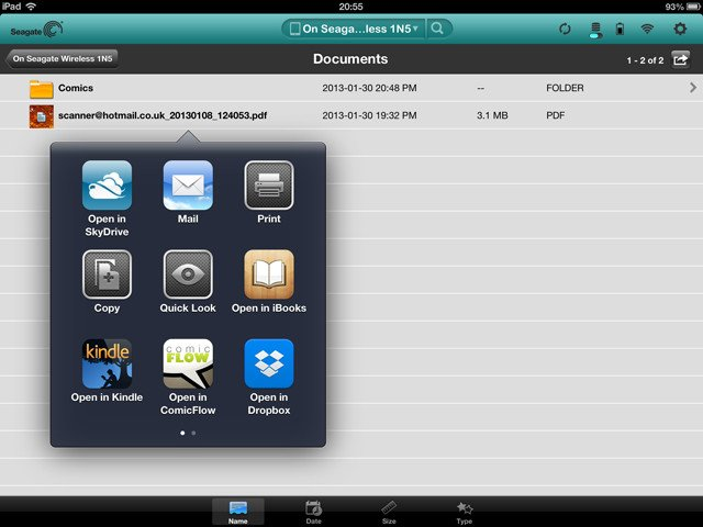 Seagate Media app