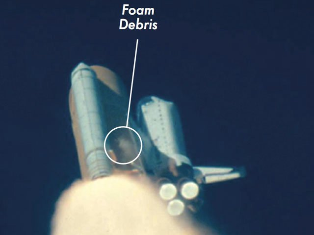 Space Shuttle Columbia foam debris