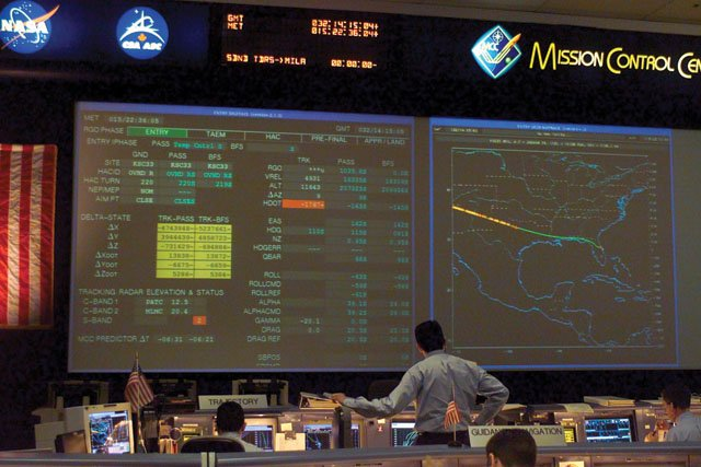 Space Shuttle Columbia Mission Control