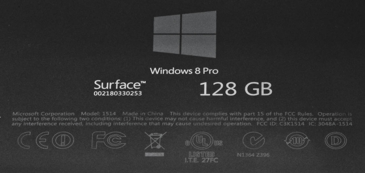 Surface Pro label