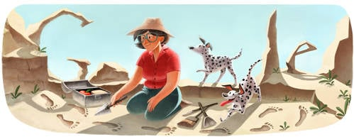 Mary Leakey Google Doodle