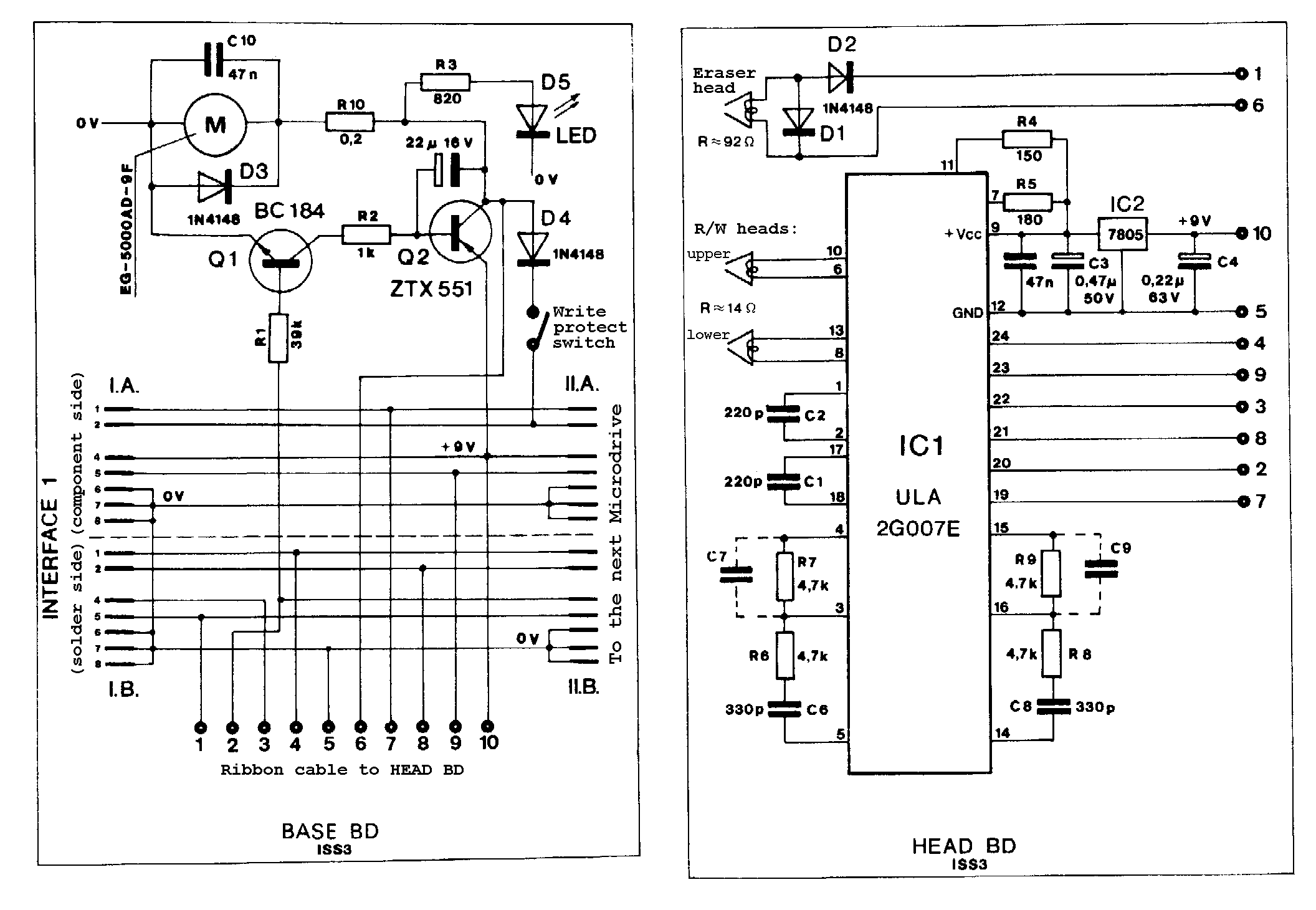 Sinclair ZX Microdrive schematic
