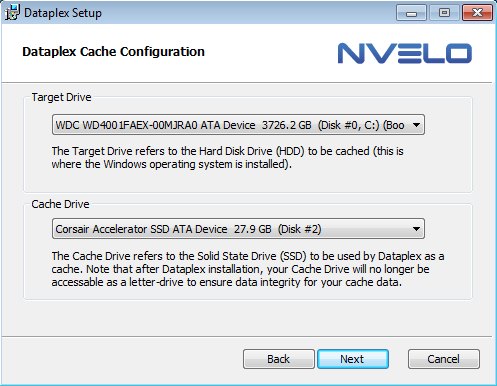 Nvelo Dataplex set-up