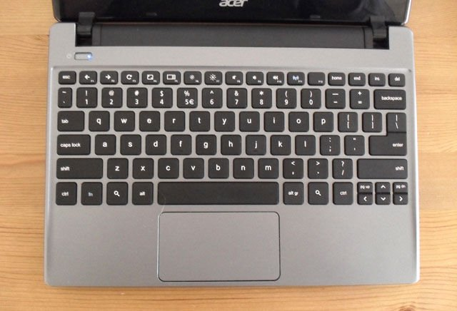 Chromebooks: Acer keyboard