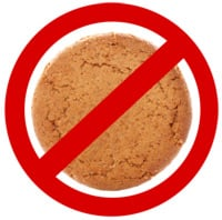 No ginger nut warning sign