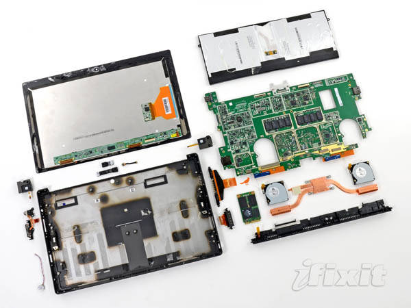 Microsoft Surface Pro, completely disassembled