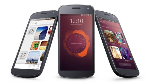 Photo of smartphones running Ubuntu
