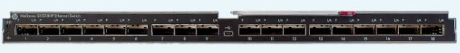 The SX1018HP 40GE switch for the BladeSystem c7000 Platinum chassis