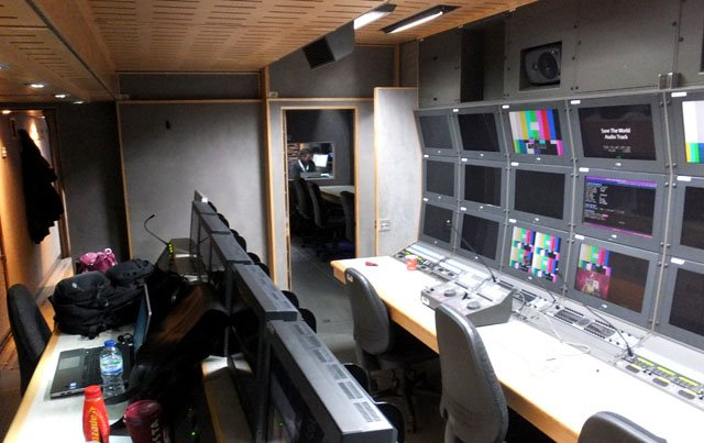 CTV OB truck vision mixer