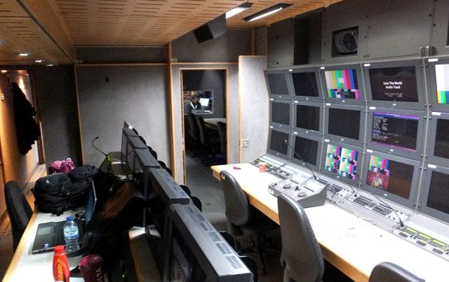 CTV OB truck vision mixer